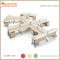 Modern Steel Frame Open Office Partition 8 partition workstation
