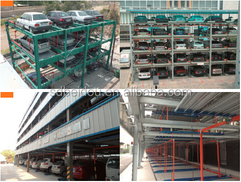 5 levels lift-sliding parking garage/rotary automated car parking system
