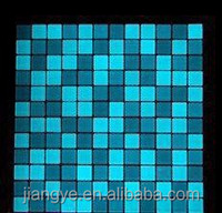 Luminous swimming pool glass mosaic tile,Blue light mosaic