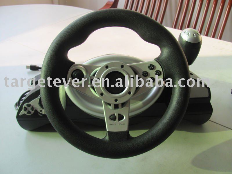 PS2/PS3/PC 3 in1 Wired Steering Wheel