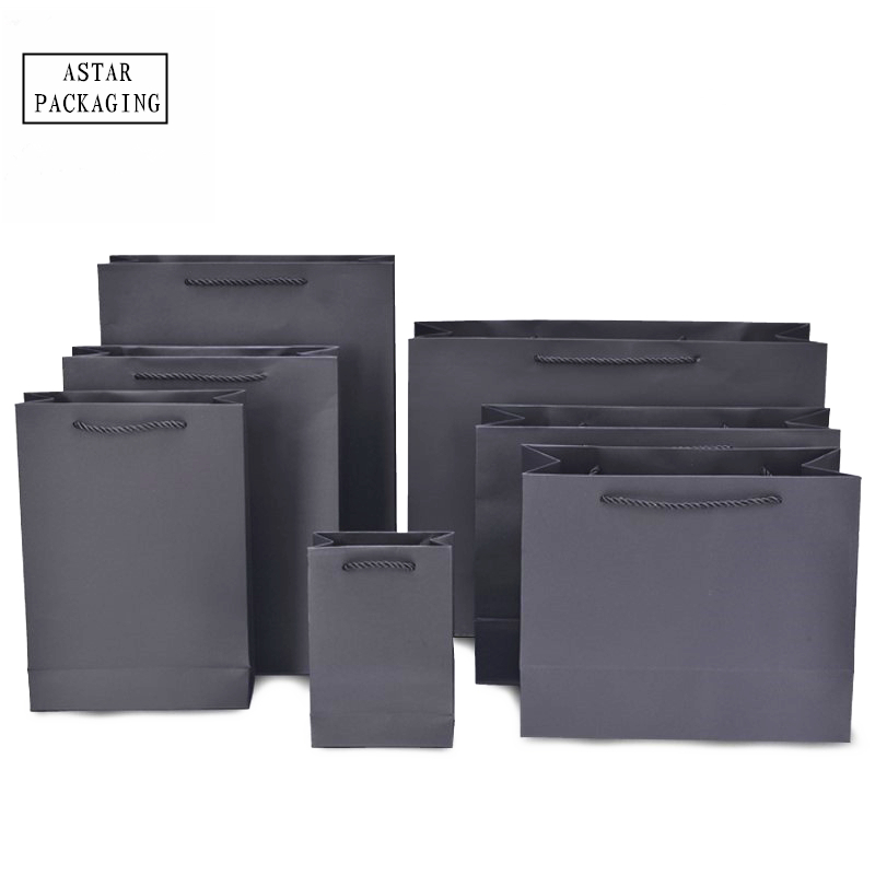 Black foldable paper garment clothing shopping gift <strong>bag</strong>