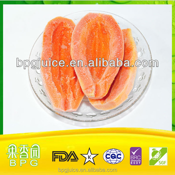 IQF Papaya Half shape