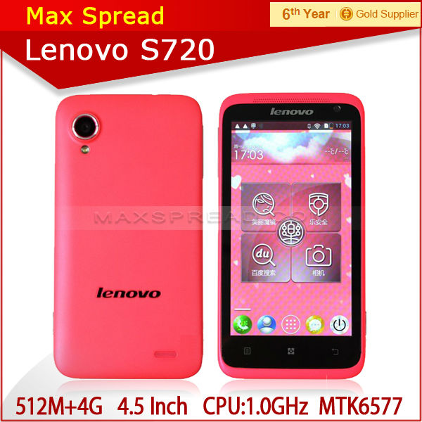 4.5 inch mtk 6577 Lenovo s720 hot sales mobile phone