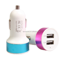 universal led usb Dual Car Charger 1A 2.1A power adapter