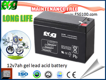 solar ups battery 12v 7ah for emergency lighting rechargeable storage battery