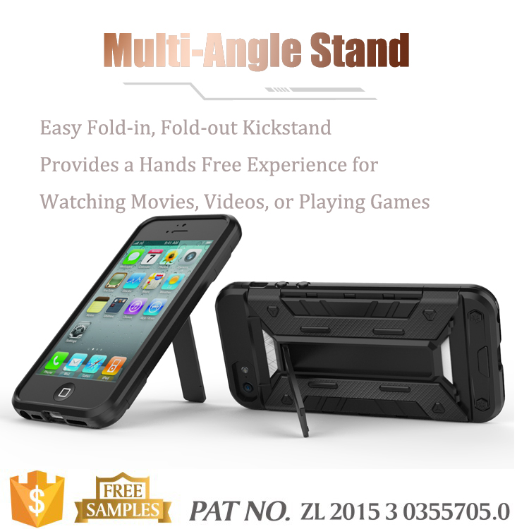 Multi-function kickstand card holder bumper for iphone 5 case mobile phone