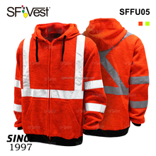 Customize Hood Fluorescent Fleece Work China Wholesale Hoodie High Visibility Comfortable Warning Sports Safety Clothing