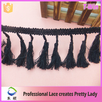 Sewing curtain fringe tassels wholesale/china supplier fringes for dresses