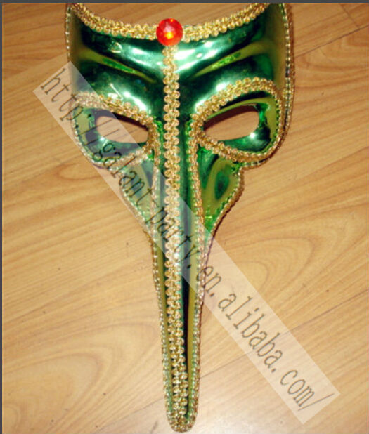 Halloween Chiristmas Man Green Long Nose Venice Dance Masquerade Cat Face Mask Vintage Cat Party Mask