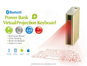 wireless portable virtual laser projection keyboard with bluetooth speaker and power bank 5200mAh for smart phone and tablet