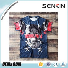 streetwear manufacturer wholesale sublimation t-shirt hip pop rock t shirt