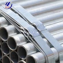 BS1387 EN10219 Hot dip galvanized steel pipe, gi pipe 6m length for drinking water
