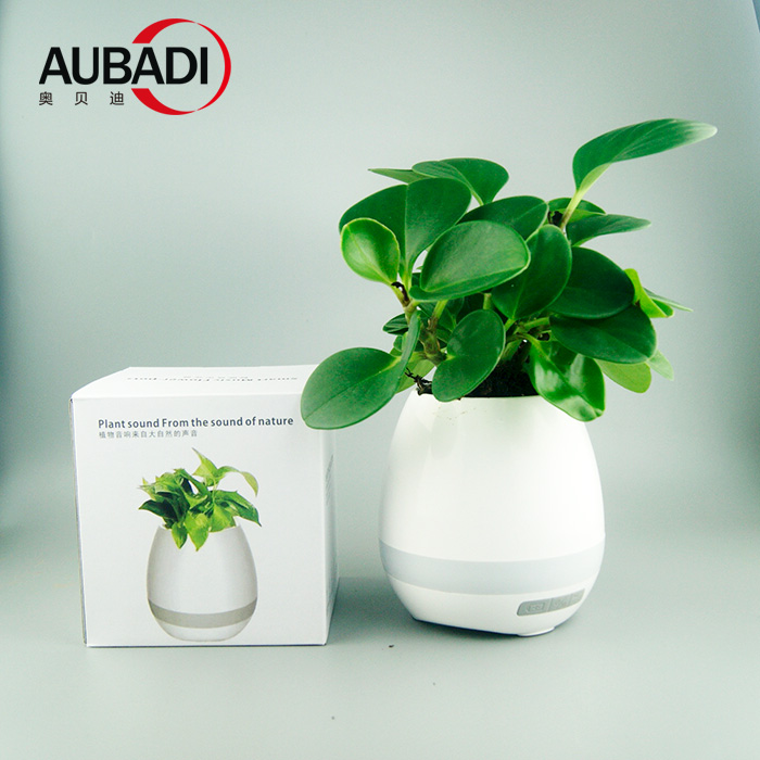 high-tech touching plant piano wireless bluetooth flower pot speaker