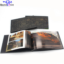 Print Hardcover Booklet Full Color Custom Horizontal Book Landscape Book