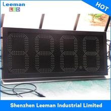 12 inch digital pricing oil display any shape customized led gas price sign die casting aluminum cabinet
