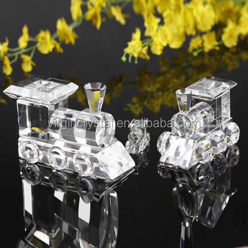 Customized size crystal model aircraft transparent toy train 3d scale model train for kids' gifts and home decoration
