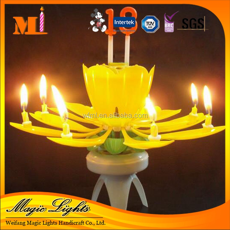 High Quality Factory Price Good-looking Happy Birthday Flower Candle