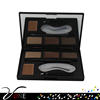 make up cosmetics 4 color eyebrow kit with eyebrow powder and makeup tool thrush card for individual buyer