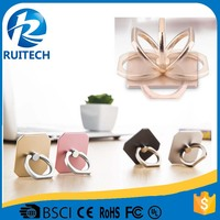 factory direct 360 degree rotation mobile phone ring holder ,cute color ring holder for cell phone