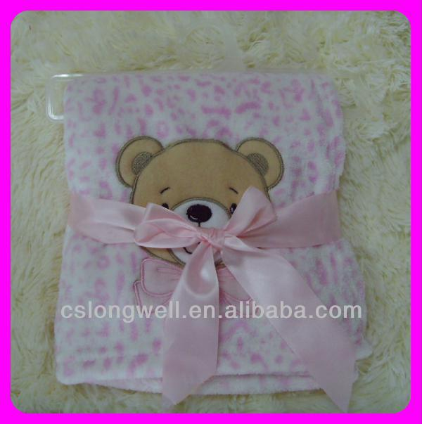 2014 New Design 100% polyester promotional life comfort baby blanket