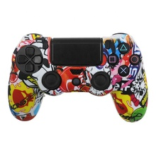 Colorful Soft Silicone Rubber Skin Case Cover For PS4 <strong>Playstation</strong> 4 Game Controller