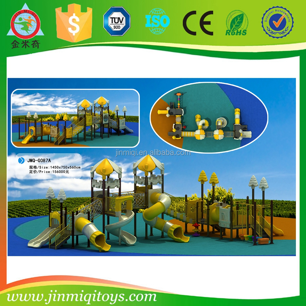 Custom big newest outdoor playground barriers plastic tube slide outdoor toys