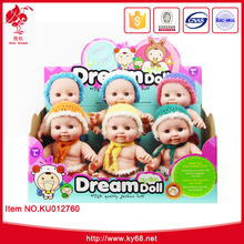 "New design display doll 9"" vinyl baby doll toys for children"