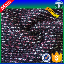 tr tweed knit fabric pellet Single sided plain knitted fabric for children frocks designs