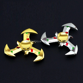 New design relieve metal ceramic bearing copper hand spinner/finger spinner toys