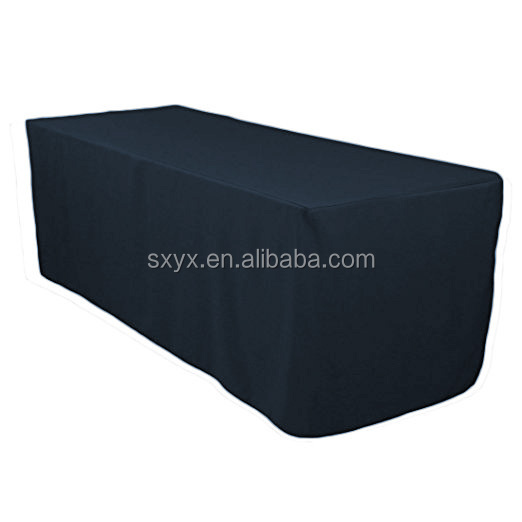 Navy Blue Table cloth 6 feet rectangular fitted table cover for banquet,restaurant,home