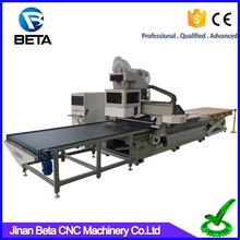 Fast speed auto loading 3 axis cnc cutter router engraver machine for panel furniture cabinet door