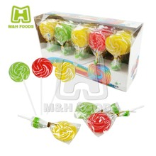 Colorful Wave Plate Lollipop Crystal Sugar Pressed Candy Confectionery Factory