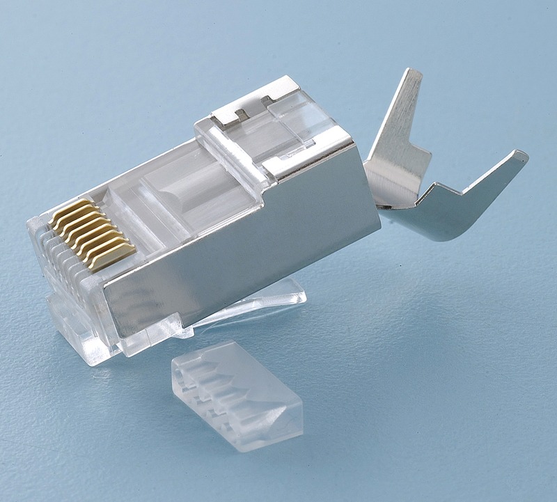 High quality COB FTP cat6a rj45 connector network cable plug with imported quality PC material