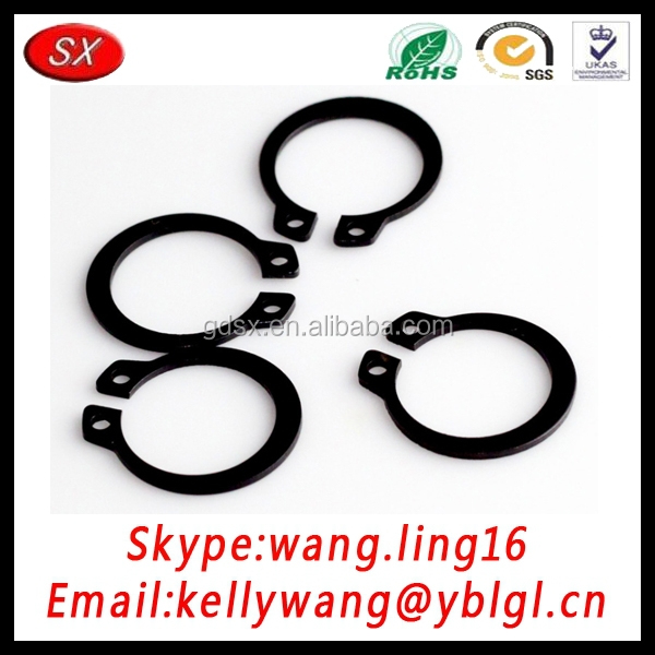 custom machinery engine black snap ring, round wire snap ring, stainless steel 304 snap piston ring