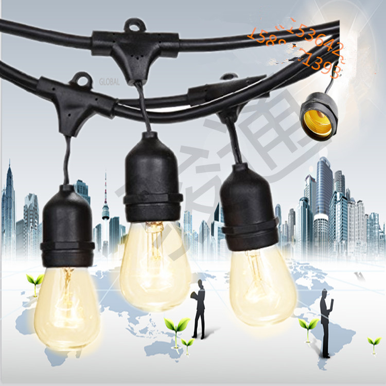 Vintage Edition Outdoor Commercial String Lights with Nostalgic Edison Bulbs
