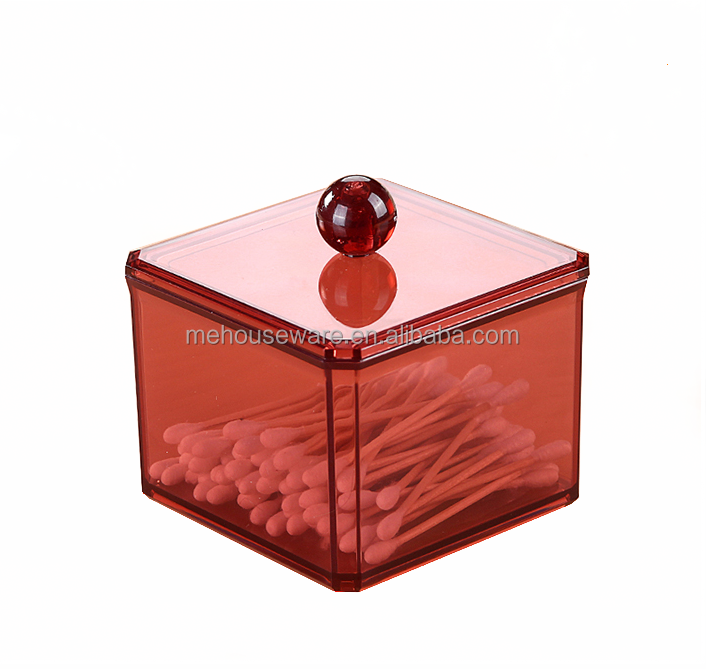 Hot colorful acrylic cotton swab box / Customized acrylic cotton swab box