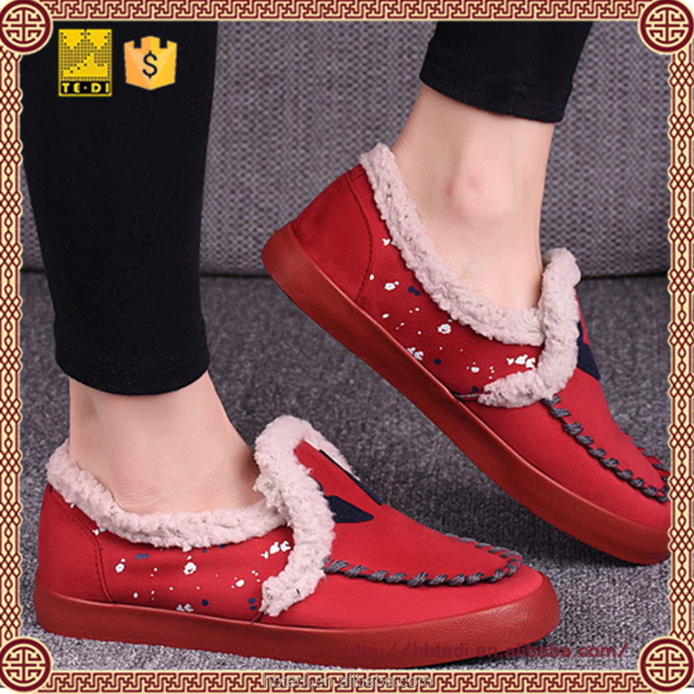 2016 fashion design global warming shoes for women casual slip on shoes