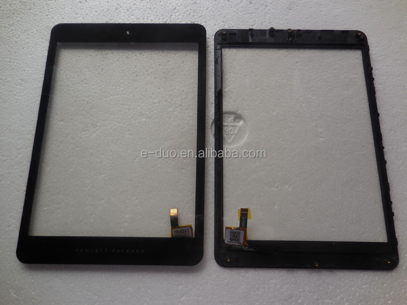 For HP 8 G2 1411 digitizer touch screen with frame