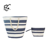 Alibaba China handmade stripe beach bag paper straw handmade bags