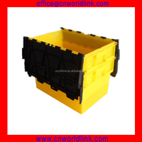 70L Attached Lid Plastic Wholesale Plastic Totes