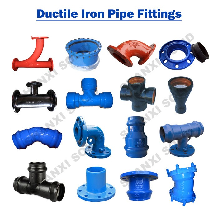 ISO2531 China ductile iron pipe fittings for African and South American market