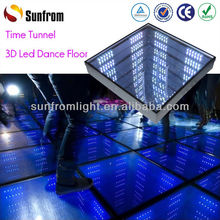 Exhibition Popular Dancing Floor Colorful Changing Led Lighted Glass Bricks