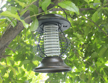 protable solar light iron UV solar mosquito killer lantern