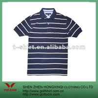 mens fashion 100 cotton stripes polo t shirt with short sleeve