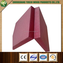 standard size pink fire rated MDF board 9mm 12mm 15mm 18mm