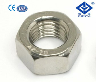 Hex Nut,DIN934/DIN439/GB6170/GB6175 SS304/316 m10 nut and bolt7 mm hexagon