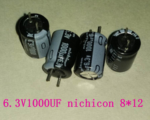 $0.1each original Cap Electronic 1000uF 6.3V 105C PTH 8x12mm for NICHICON