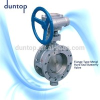 Hot sale Worm Gear Actuated Flange Eccentric Butterfly Valve