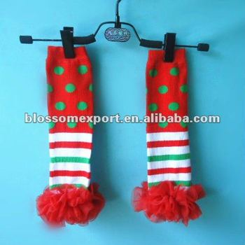 Christmas baby knitted cotton legwarmer