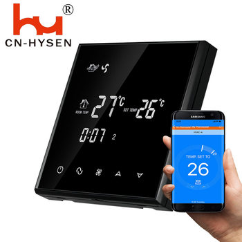 Hysen 220V Wifi Room Central Air Conditioning FCU Thermostat for Temperature Controller